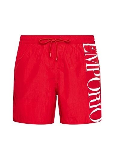 Emporio Armani  Baskılı Belden Bağlamalı Cepli Mayo Short Erkek Mayo Short 211740 1P414 06574 Kırmızı